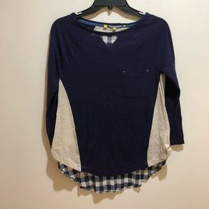 Anthropologie Little Yellow Button Size XS Top